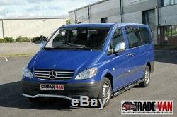 Mercedes Vito Camionnette Viano Chrome Guidon Latéral Pas B2 Acier Inoxydable Ex