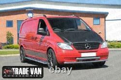 Mercedes Vito Camionnette Viano Côté Barres Pas C2 Inox Acier Court Long 2004- À