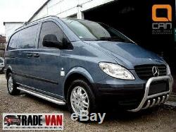 Mercedes Vito Marche-Pieds Camionnette Viano C2 Acier Inoxydable Barre Long