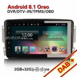 Octa-Core Android 8.1 GPS DAB+ Autoradio Mercedes C/CLK W203 W209 Viano Vito TNT