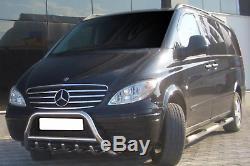 Pare Buffle Bullbar Protection Inox Pour Mercedes Vito Viano W639 2003-2010