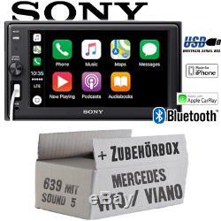 Sony Autoradio pour Mercedes Vito/Viano 639 Bluetooth Apple Carplay USB Kit Pkw