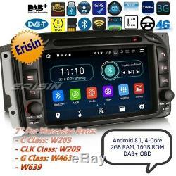 TNT Autoradio Android 8.1 DAB+Mercedes W203 W209 W639 W463 Viano Vito Cam 73963