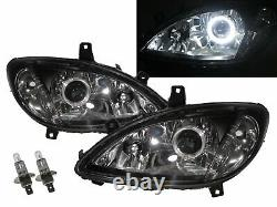 W639 VIANO 03-10 Guide LED Angel-Eye Feux Avant Phare BK for Mercedes-Benz LHD